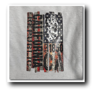 American Flag Cali Bear V-Neck Tee