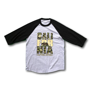 California Camo 3/4 Sleeve T-Shirt