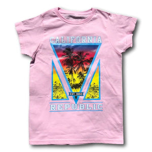California Republic Iconic Beach & Palm Tree Tee