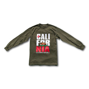 California Republic Logo Long Sleeve Graphic T-Shirt