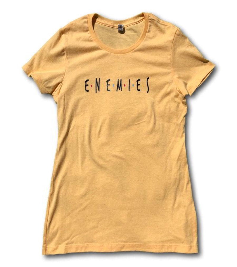 Enemies - Friends Parody T-Shirt for Women