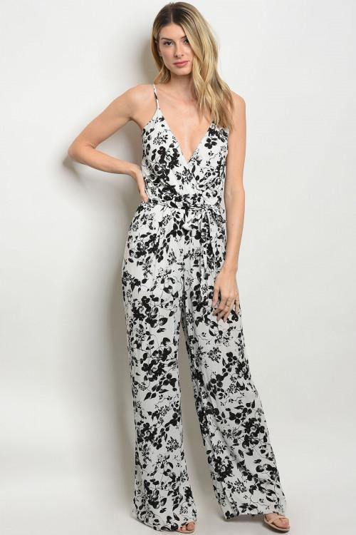 Off White & Black Jumpsuit