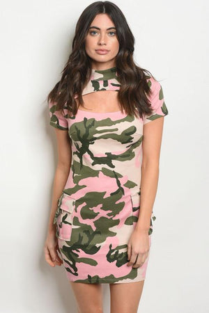 Pink Camouflage Dress