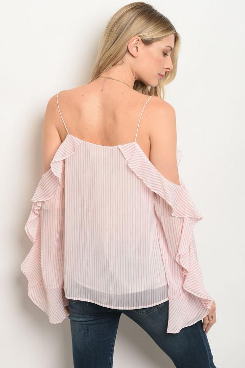 Pink and White Stripes Blouse