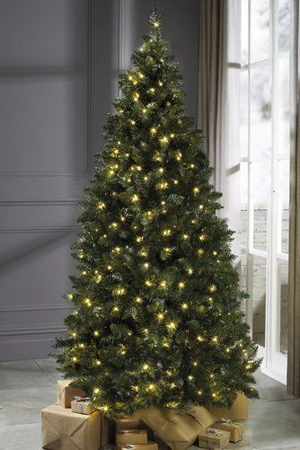 Luxury Pre Lit Warm White Led Lights Green Pine Christmas Tree 6ft 7ft Noble18