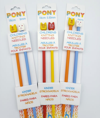 Pony Children's Single Pointed Knitting Needles