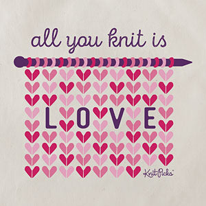 New! Knit Picks All You Knit is Love Project Bag