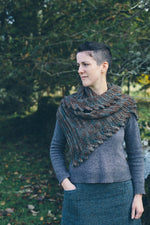 Load image into Gallery viewer, Digital Pattern:  Fronds Shawl