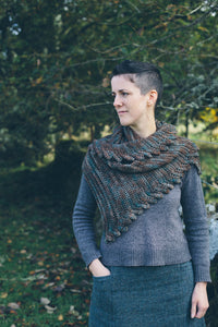 Digital Pattern:  Fronds Shawl