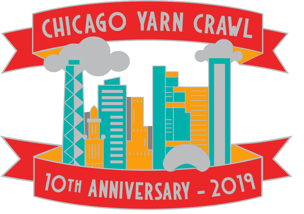 *STORE PICK UP ONLY*  Pre-Sale!  10th Year Anniversary Yarn Crawl 2019 Pins!