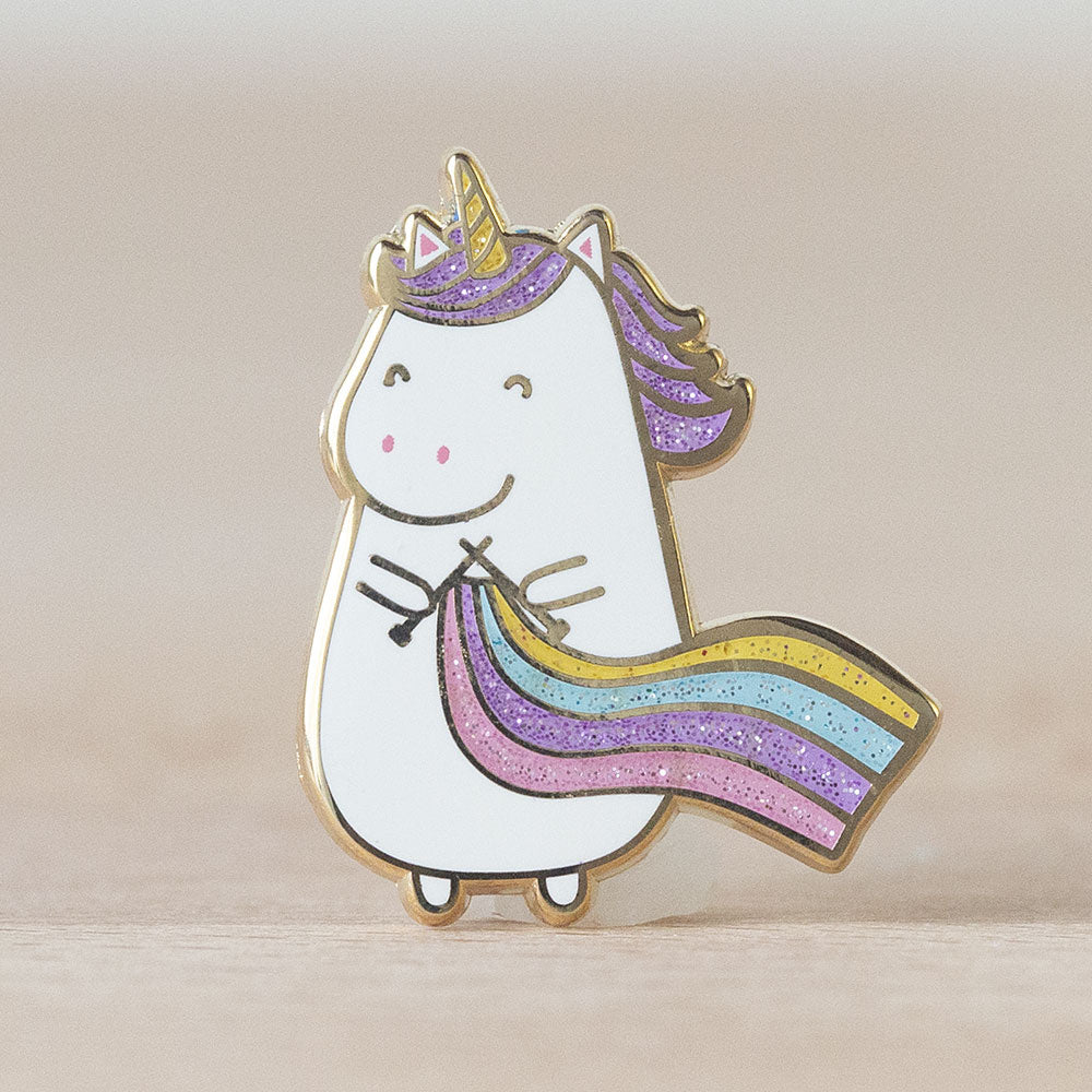 Knit Picks Sparkles the Knitting Unicorn Enamel Pin