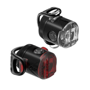 Lezyne Femto USB Drive Light Set - Black - Front and Rear