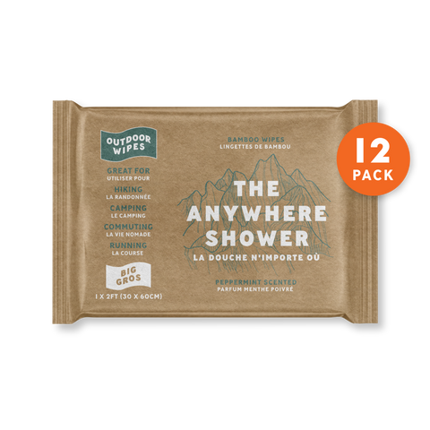 Anywhere Shower Outdoor Wipes - Bigger Wipe - Singles
