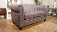 Chesterfield 3 Seater & 2 Seater Sofa Set - Grey