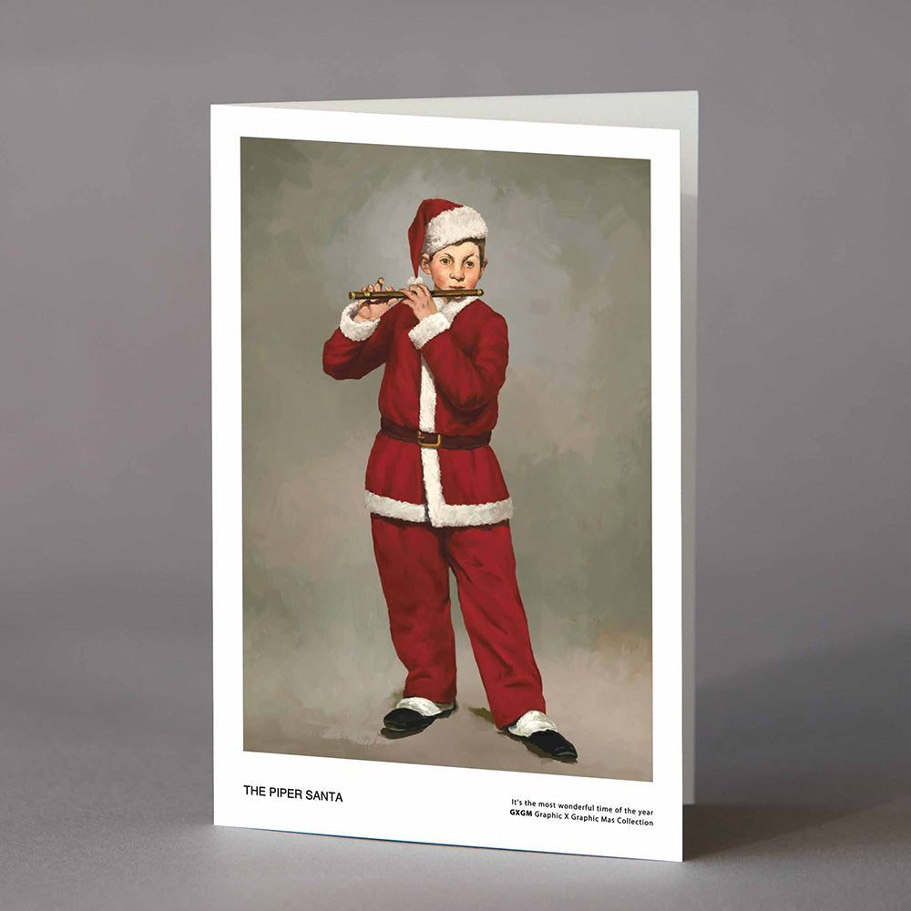 The Piper Santa Card