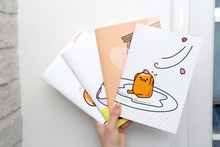 Load image into Gallery viewer, Gudetama A5 Lined Notebook