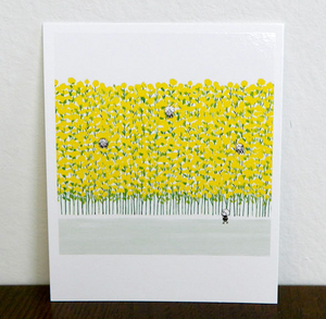 Polaroid-Yellow Flowers