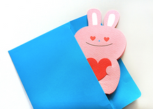 Load image into Gallery viewer, Thanks paper stand up card Rabbit