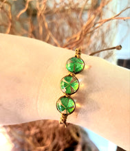 Load image into Gallery viewer, Four Leaf Clover Adjustable Bracelet