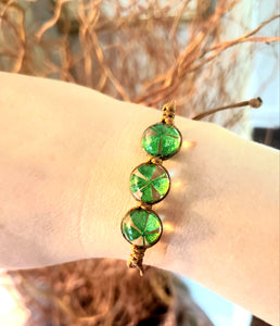 Four Leaf Clover Adjustable Bracelet