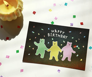 Hologram Postcard - Jelly Bear (Happy Birthday)