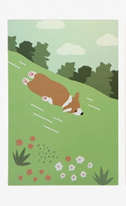 Hologram Postcard - Sliding Welsh Corgi