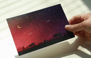 Hologram Postcard - Shooting Star
