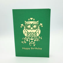 Load image into Gallery viewer, 3D Happy Birthday Owl