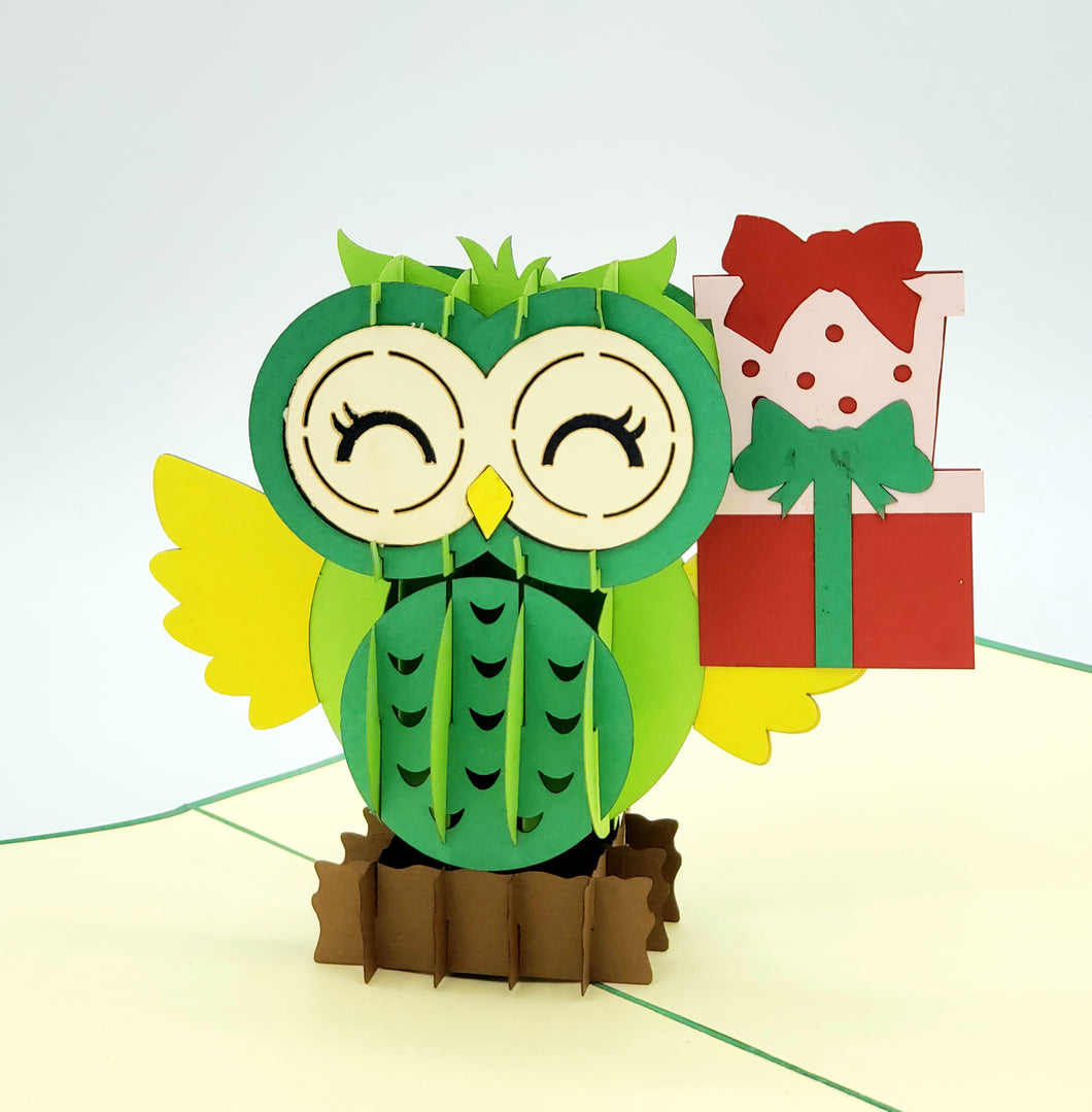 3D Happy Birthday Owl