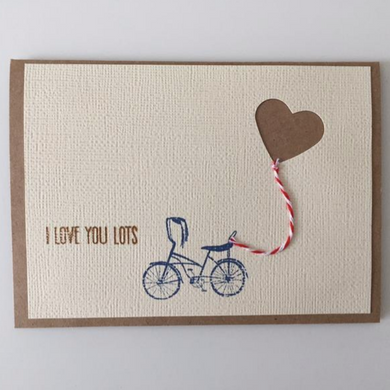 I Love You Lots Bicycle - Greeting Card