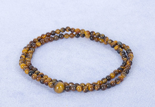 Load image into Gallery viewer, 2 Layer Tiger's Eye Mala Bracelet