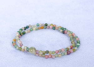 2 Layer Multi-Colour Jade Mala Bracelet