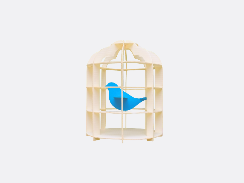 Paper Mobile Bird Cage