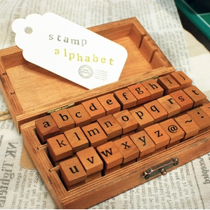 Lower Case Alphabet and Symbol Stamp Set