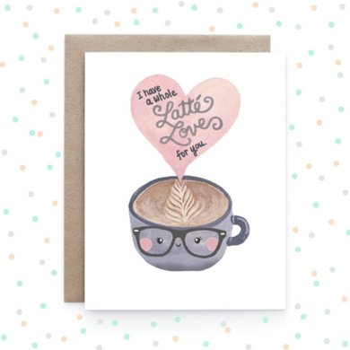 Latte Love - Greeting Card