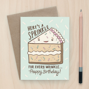Sprinkles and Wrinkles - Greeting Card