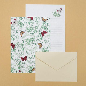 Grass Butterfly Letter Paper Set