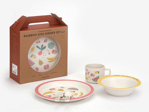 Bamboo Kids Dinner Set ver.2 - Fresh Fruit