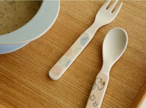 Bamboo Kids Spoon and Fork - Asiatic Chipmunk