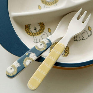 Bamboo Kids Spoon and Fork - Little Lion