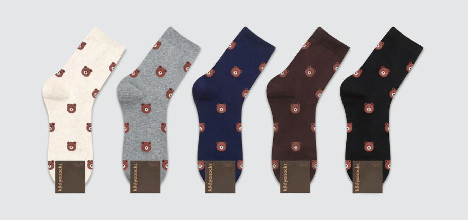 Bear Face Patterned Socks