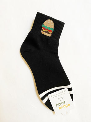 Burger Socks - Short Crew