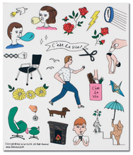 Load image into Gallery viewer, C'est la Vie Transparent Sticker Set 3