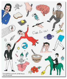 C'est la Vie Transparent Sticker Set 3