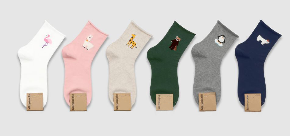 Cheerful Animal Socks