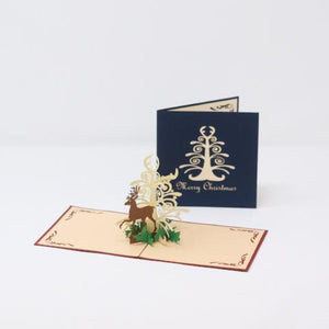 Small Deer with White Tree