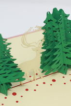 Load image into Gallery viewer, Stag Between Two Pine Trees