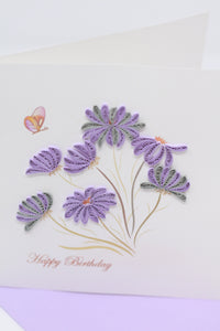 Birthday Purple Flowers
