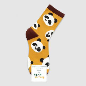 Curious Panda Patterned Socks