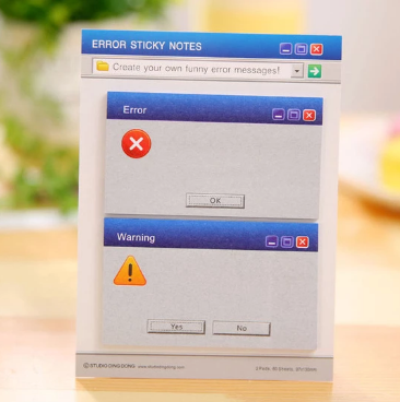 Error Sticky Notes